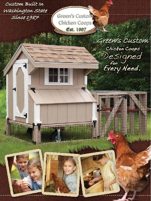 Green's Custom Chicken Coops Catalog