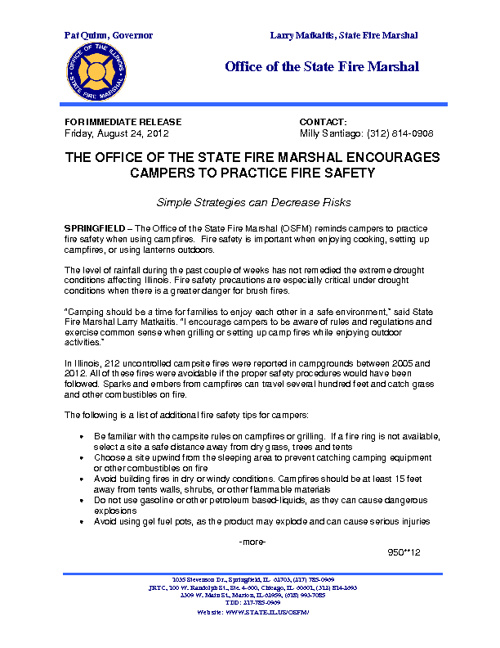 Fire Safety for Campers