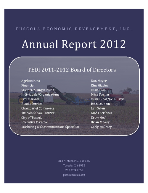 2011/2012 TEDI Annual Report