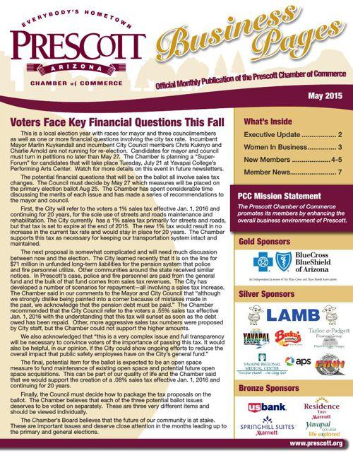 Prescott Chamber 5-15 Newsletter