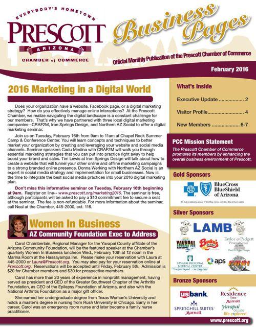 Prescott Chamber 2-16 Newsletter