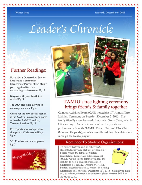 Leader's Chronicle (Winter Issue #8)
