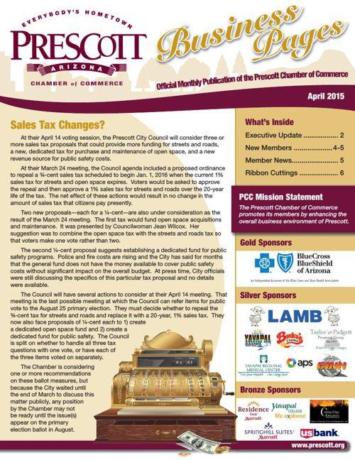Prescott Chamber 4-15 Newsletter