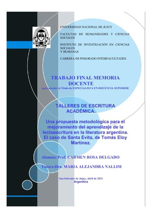 TALLERES DE ESCRITURA ACADEMICA
