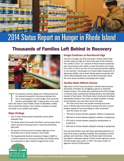 2014 Status Report on Hunger