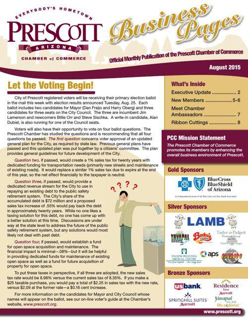 Prescott Chamber 8-15 Newsletter