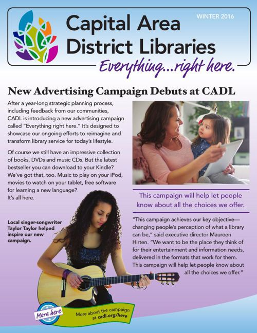Capital Area District Libraries 2016 Winter Guide