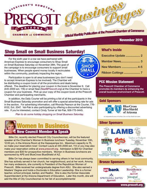 Prescott Chamber 11-15 Newsletter
