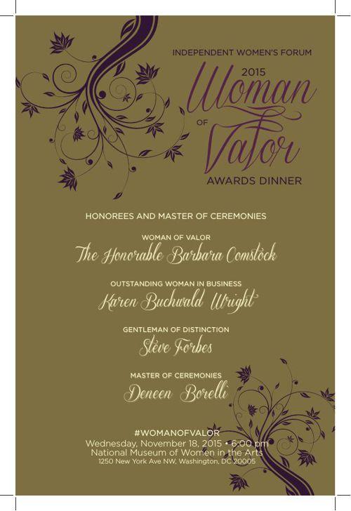2015 Woman of Valor Awards Dinner