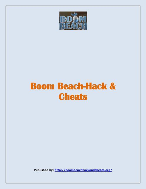 Boom Beach-Hack & Cheats