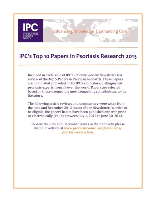psoriasis paper term Portuguese position paper on the use of biosimilars in psoriasis  of critical importance for assessment of long-term safety of   psoriasis is a.