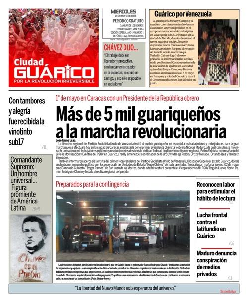 Edición Especial Diario Ciudad Guárico A-1 N-1