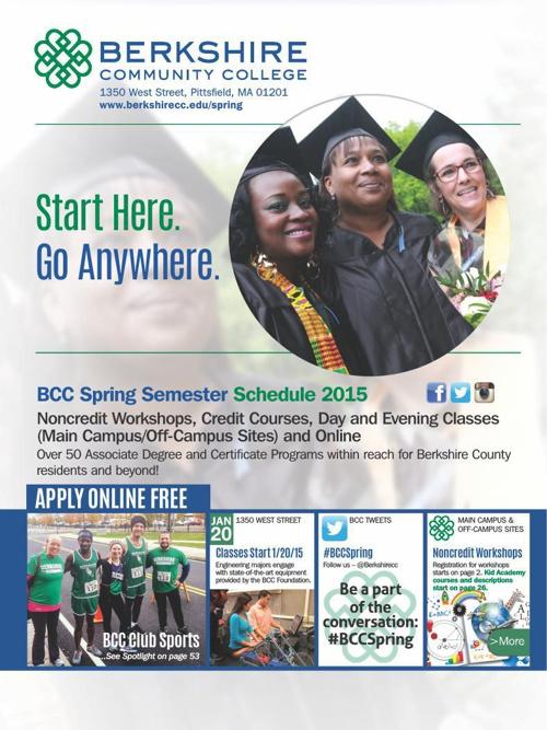 Berkshire Community College Spring 2015 Semester Schedule
