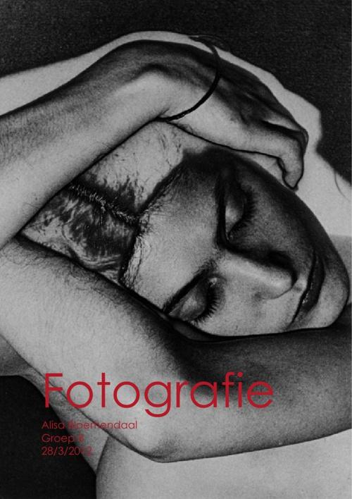 Alisa's werkstuk over fotografie maart 2012