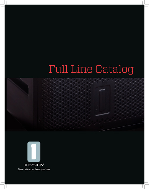 One Systems Full Line Catalog