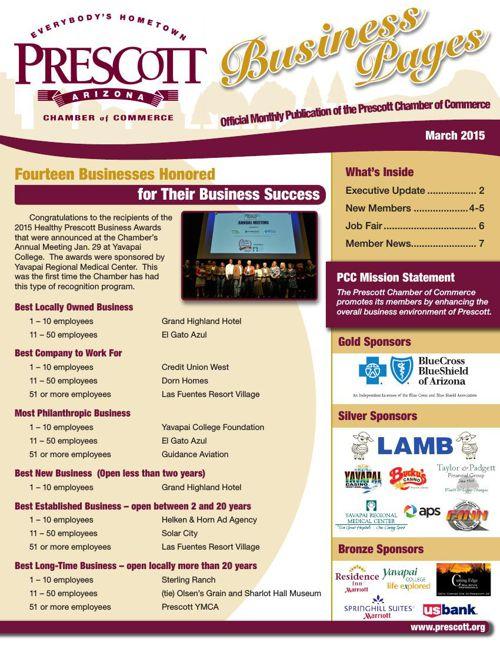 Prescott Chamber 3-15 Newsletter