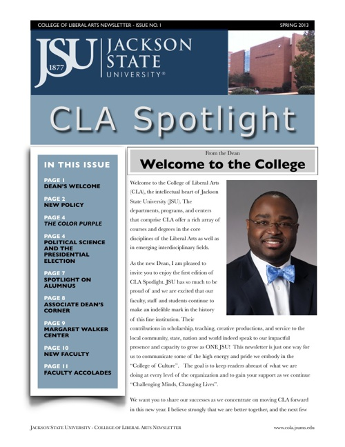 CLA Spotlight, Vol. 1
