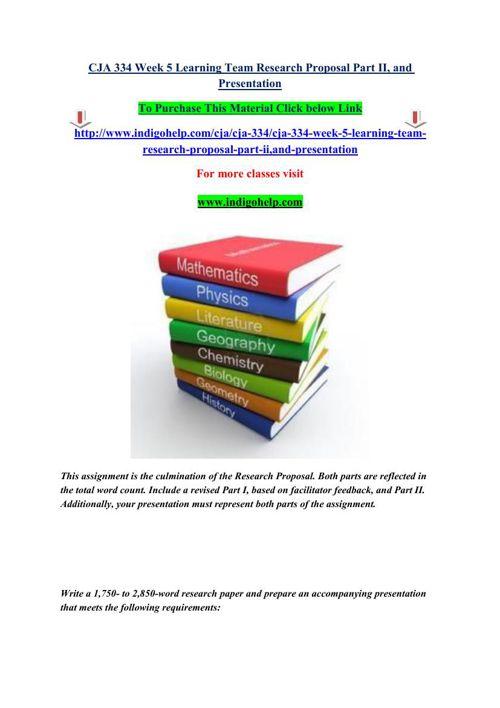 Individual research proposal