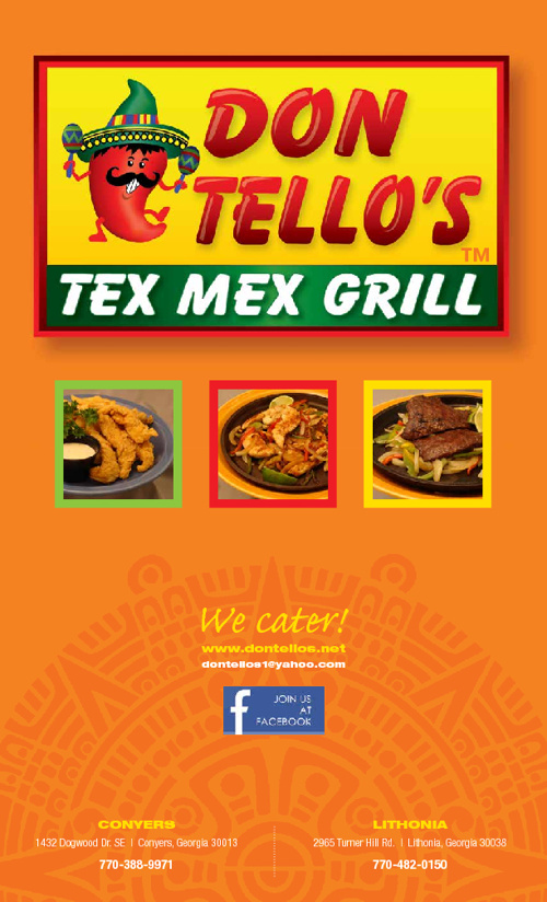 DON TELLO'S  TEX MEX GRILL MENU