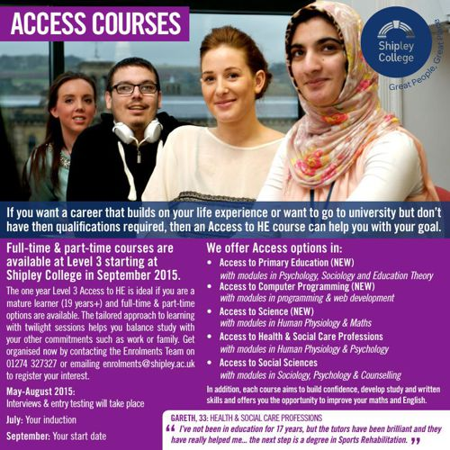 access to higher education Access to higher education diplomaaccess diplomas: health professions,  social sciences, science, social work, humanities,engineering, science &  maths.