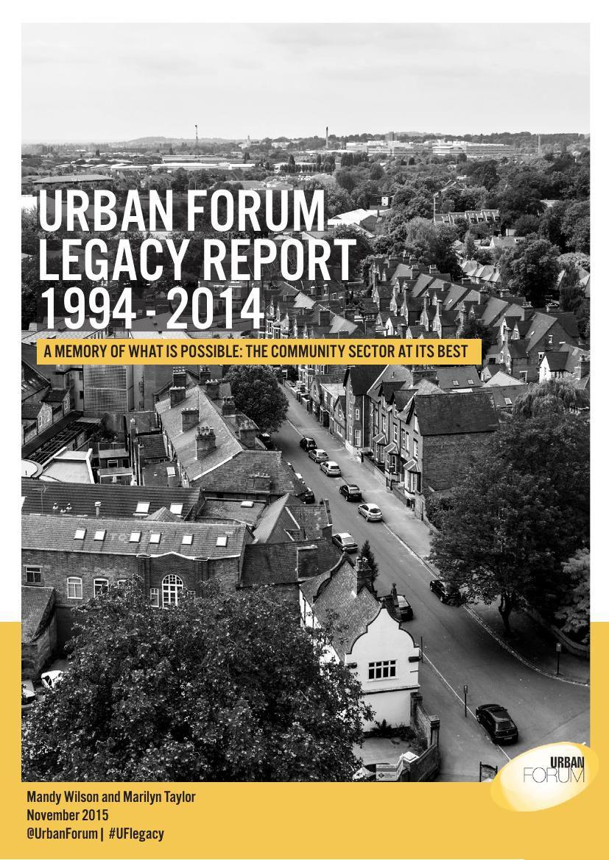 Urban Forum Legacy Report