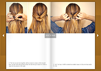 Hairstyle tutorial brochure