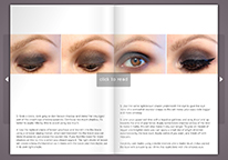 Smokey eyes tutorial flipbook